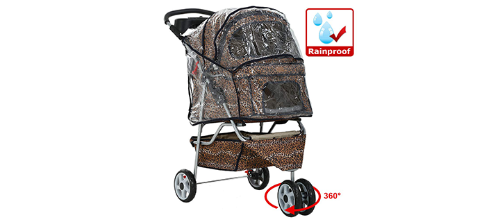 All Terrain Stroller from BestPet with 3 Wheels