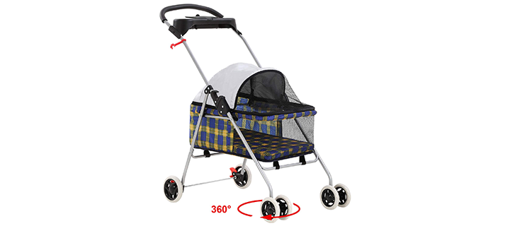 BestPet Pet Stroller 4 Wheels Posh Folding Waterproof