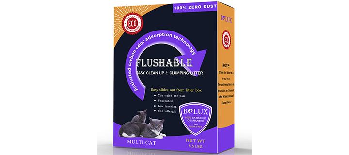 Bolux Rod-Shaped Pellet Flushable Cat Litter