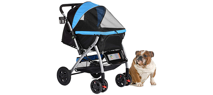 HPZ Pet Rover Heavy Duty Stroller with Convertible Section