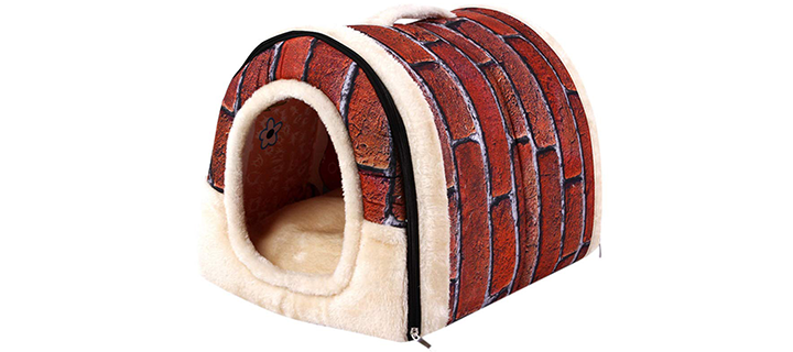 ManxiVoo Dog House with Warm Bedding