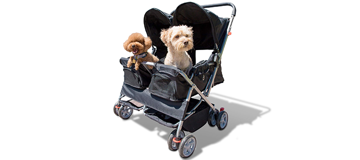 Paws & Pals Twin Carriage Dog Stroller