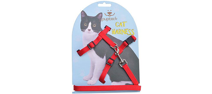 PUPTECK Cat Harness with Snap-Lock Buckles